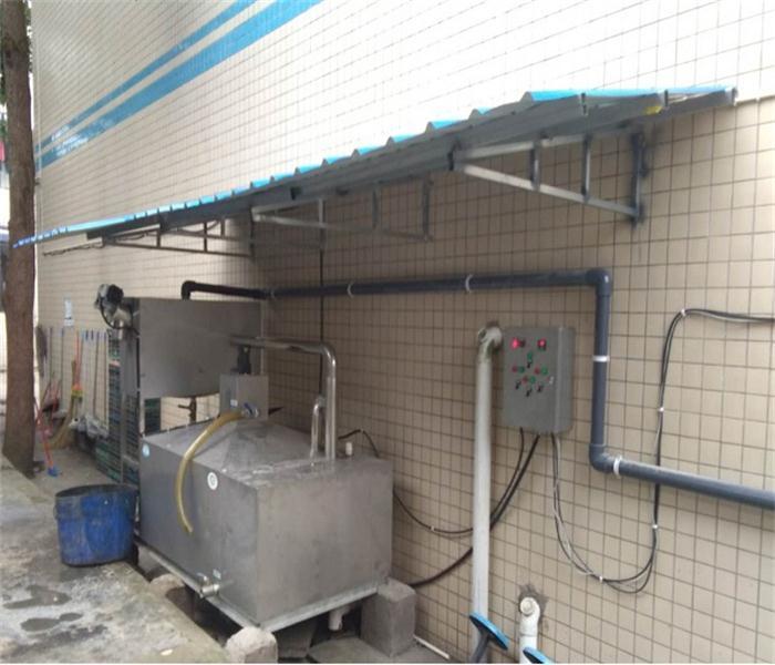 安徽全自动油水分离器餐饮污水分离设备隔油处理设备已完工