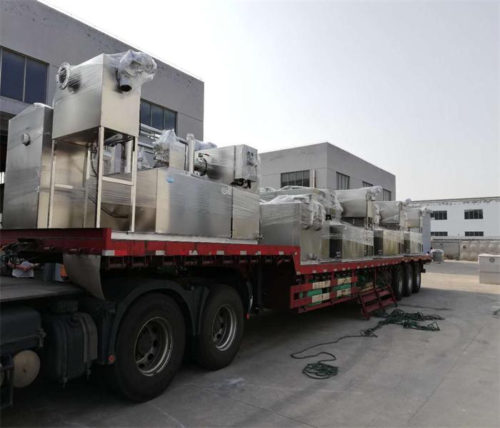 安徽油水分离器餐饮污水分离设备隔油处理设备项目已完工发往广西南宁